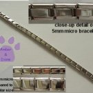 Shiny Silvertone Italian Charm Micro Starter Bracelet - 27 Links