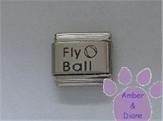 Fly Ball Laser Italian Charm with a Ball