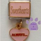 Sweethearts Dangle Italian Charm with ALWAYS... in Pink