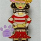 Little Girl Triple Link Italian Charm with pink hat