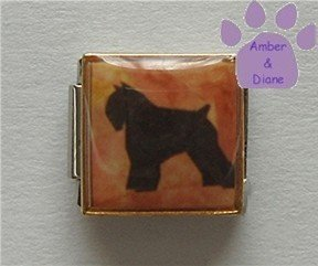 Bouvier Dog 9mm Custom Photo Italian Charm