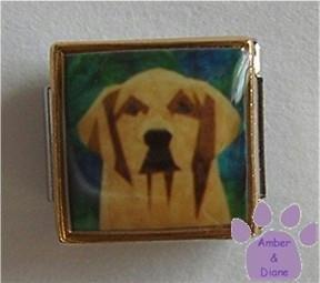 Golden Retriever Dog 9mm Custom Photo Italian Charm