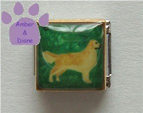 Golden Retriever Dog 9mm Custom Photo Italian Charm full body