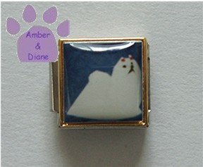 Maltese Dog 9mm Custom Photo Maltese 9mm Italian charm