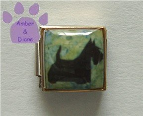 Scottish Terrier Dog 9mm Custom Photo Italian Charm Scottie Dog