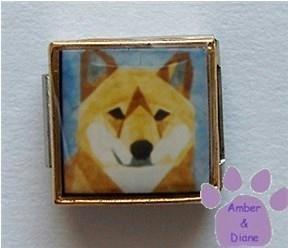 Shiba Inu Dog 9mm Custom Photo Italian Charm