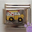 Cute Yellow School Bus Italian Charm for Bus Driver or Teacher