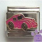 Deep Pink Glitter Corvette Italian Charm Sports Car