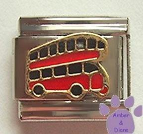 Double Decker Bus Italian Charm * Golden Anniversary