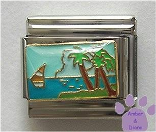 Beautiful Tropical Island Paradise Italian Charm with sailboat