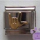 ASL I Love You Italian Charm American Sign Language