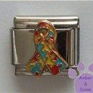 Autism Awareness Support Rainbow Puzzle Ribbon Italian Charm