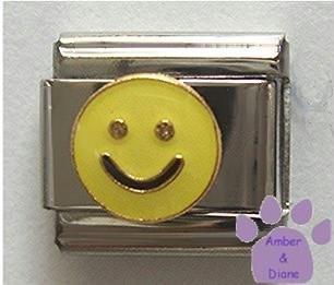 Yellow Smiley Face Italian Charm Happy Face