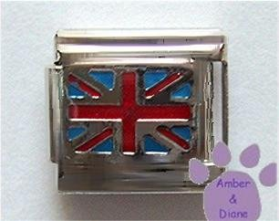 British Flag Italian Charm Flag of England
