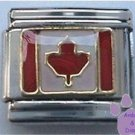 Canadian Flag Maple Leaf Italian Charm for Canada
