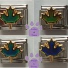 Ultraviolet UV Maple Leaf Italian Charm Changes colors