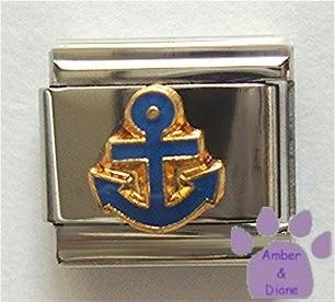 Blue Anchor Italian Charm for Boater, Sailor or Yachtsman
