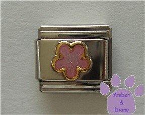 Pink Shimmer Flower Italian Charm