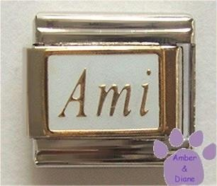 Ami Italian Charm Masculine Friend in the language of love