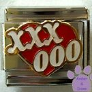 Heart Covered with Kisses and Hugs Italian Charm XOXOXO