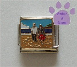 Romantic Walk on the Beach Italian Charm Couple Holding Hands