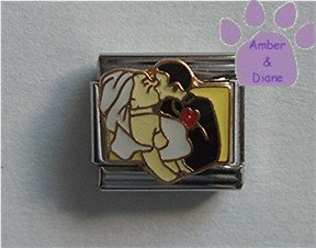 Bride and Groom Italian Charm You May Kiss the Bride