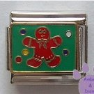 Gingerbread Man Italian Charm Surrounded by Gumdrops