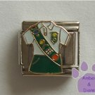 Girl Scout Uniform Italian Charm with Badges on Sash