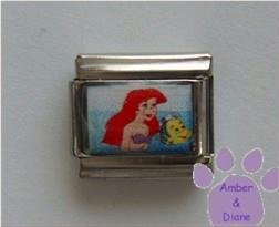Ariel Custom Photo Italian Charm from The Little Mermaid