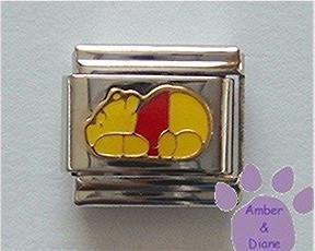 Winnie the Pooh Laying Down Italian Charm, Pooh Bear