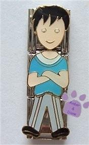 Little Boy Triple Link Italian Charm - arms crossed