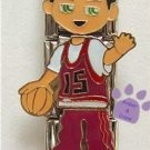 Little Boy Triple Link Italian Charm - basketball player