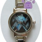 Zodiac Silvertone Italian Charm Watch AQUARIUS Jan 20 to Feb 18