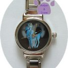 Zodiac Silvertone Italian Charm Watch ARIES March 21 to April 19