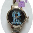 Zodiac Silvertone Italian Charm Watch GEMINI May 21 to June 20