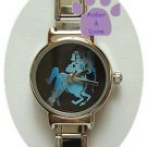Zodiac Silvertone Italian Charm Watch SAGITTARIUS Nov 22-Dec 21