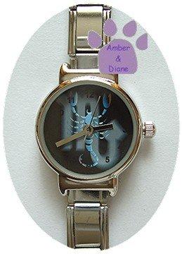 Zodiac Silvertone Italian Charm Watch SCORPIO Oct 23 to Nov 21