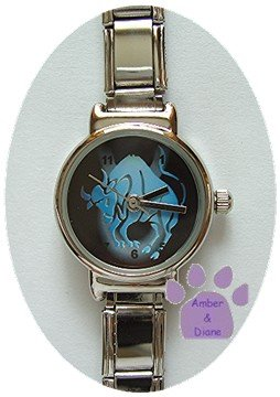 Zodiac Silvertone Italian Charm Watch TAURUS April 20 to May 20
