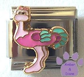 Cute Think Pink Ostrich Italian Charm