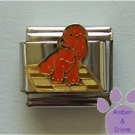 Brown Puppy Dog Italian Charm Sitting on a Blanket