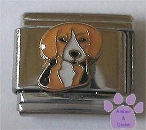 Very Cute Beagle Dog Italian Charm