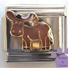 Adorable Donkey Italian Charm - Jack Ass, Mule, or Burro
