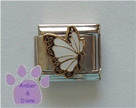 April BUTTERFLY Birthstone with white-diamond color wings