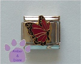 January BUTTERFLY Birthstone with red-garnet color wings