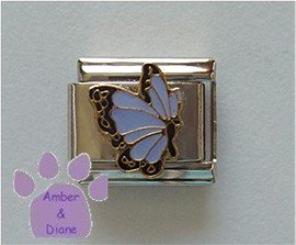 June BUTTERFLY Birthstone lavender-alexandrite pearl color wings
