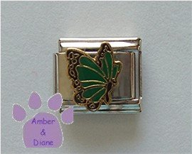 May BUTTERFLY Birthstone with green-emerald color wings