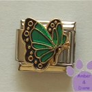 May BUTTERFLY Birthstone with green-emerald colored wings