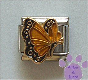 November BUTTERFLY Birthstone with amber-topaz colored wings