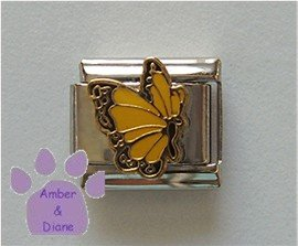November BUTTERFLY Birthstone with golden-topaz color wings