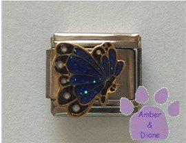 September BUTTERFLY Birthstone deep blue-sapphire glitter wings